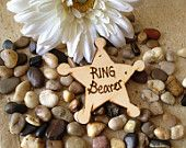 Ring Security Badge for your Ring Bearer in your Rustic Wedding - Make him feel special and important