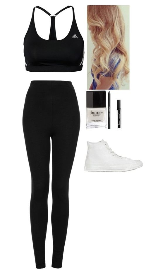 """""""Untitled #2304"""" by kimboloveniallhoran ❤ liked on Polyvore featuring adidas, Topshop, Converse and Butter London"""