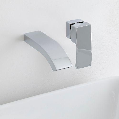 The Milano Razor Wall Mounted Basin Tap Will Add Smart Designer Style To Any Bathroom Wall Mounted Basins Basin Mixer Taps Basin
