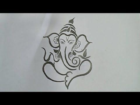 How To Draw Ganesh Ji Lord Ganesh Pencil Drawing Easy Ganpati Pencil Drawing Pencil Drawing Youtube Drawing Ganesh Ganesha