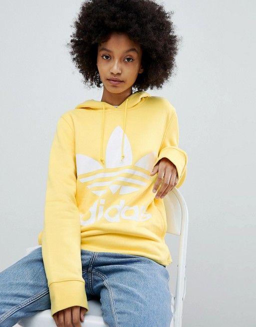 conducir Psicologicamente elefante  adidas Originals | adidas Originals adicolor Trefoil Hoodie In Yellow | Adidas  hoodie women, Adidas trefoil hoodie, Yellow adidas