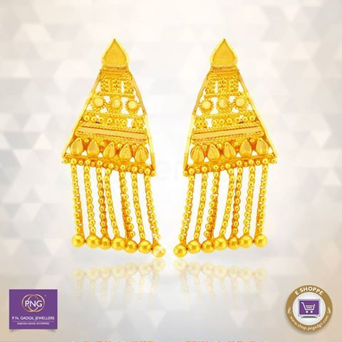 Young at heart? Then wear this pair of #earrings that are beautifully timeless. #Shop for them on goo.gl/OT8oIY #Timeless #Elegant #Gold #Online