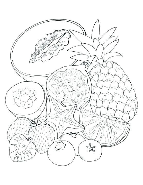 Coloring Pages Of Fruits Fruit Coloring Pages For Kids Basket Of Pattern Coloring Pages Fruit Coloring Pages Food Coloring Pages