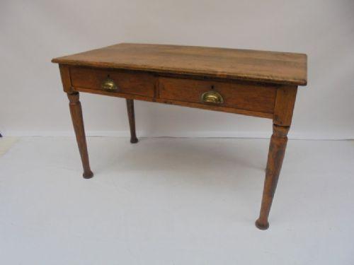 Oak writing/side table