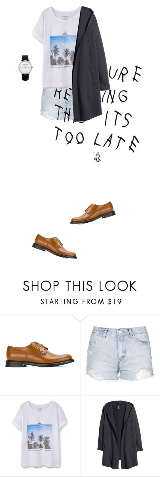 """""""150827"""" by nwpkwn ❤ liked on Polyvore featuring Church's, Topshop, Violeta by Mango, H&M and Frédérique Constant"""
