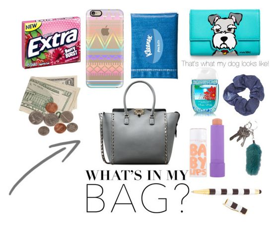"""""""Whats in my bag too"""" by snowboarder17 ❤ liked on Polyvore featuring Marc Tetro, Topshop, Valentino, FRR, Maybelline, Henri Bendel, Casetify, women's clothing, women's fashion and women"""