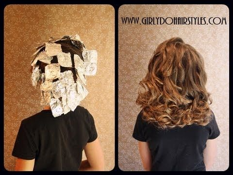 How to get great curls using foil. So cute for your daughter's hair!