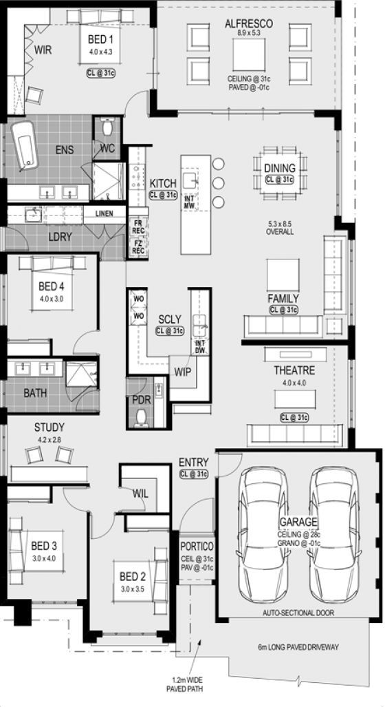 Pin By Hurricane Tyler On Floor Plans Home Design Floor Plans New House Plans Dream House Plans