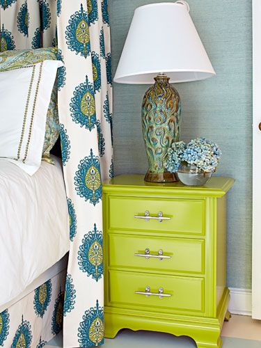 Furniture bedroom furniture and bright green on pinterest Lara spencer decorating