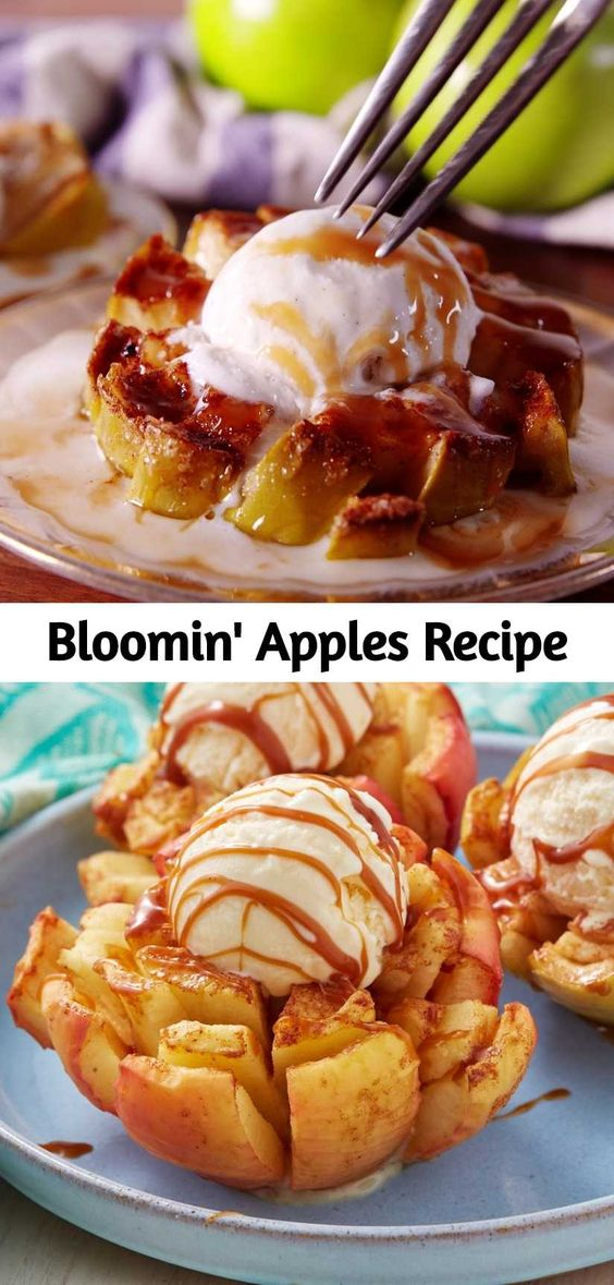 Get your fall fix with these caramel-soaked bloomin' apples. Though these finished bloomin' apples look insane, they're actually quite easy to make.