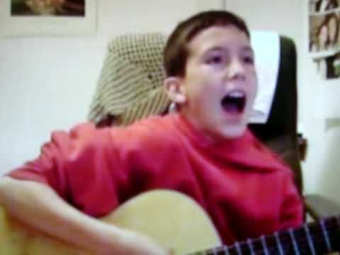 dude. this kid is doing a pretty sick cover of gg allin-die when you die.