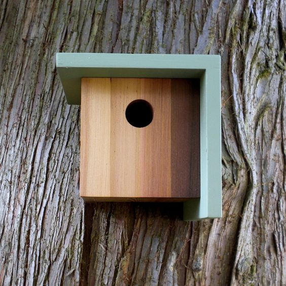 Exciting Gallery of Birdhouse Designs: Astonishing Simple Design And Modern Reclaimed Cool Birdhouse At Oak Tree In The Garden Ideas ~ moupp.com Exterior Design Inspiration