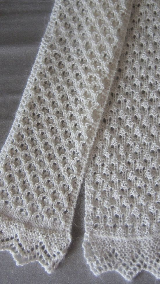 Eyelet Lace Scarf Knitting Pattern : Pinterest   The world s catalog of ideas