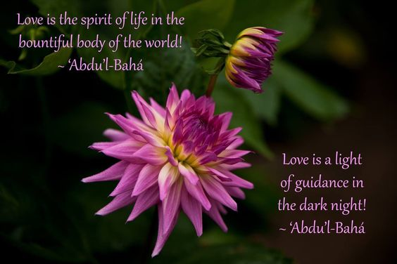 A Baha'i quote from Abdu'l-Baha.