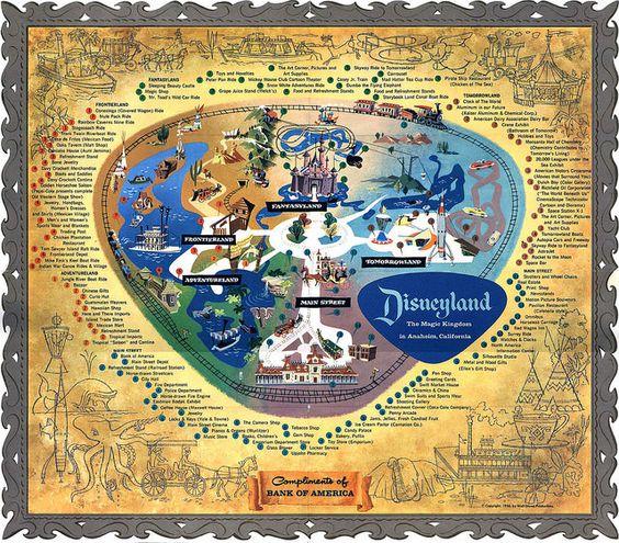 1956 Map of Disneyland | por Tom Simpson