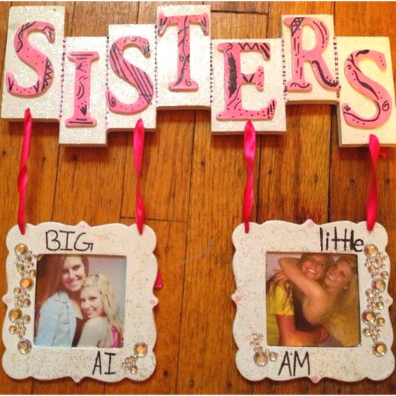 Sisters big & little picture frame
