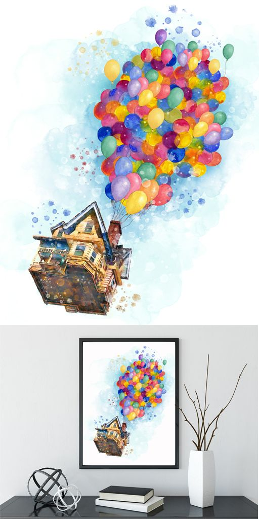 Pixar Inside House With The Balloons Up Movie Poster Pixar Up Movie Print Inside Out Poster Pixar Art Inside O Up Pixar Disney Art Drawings Disney Drawings