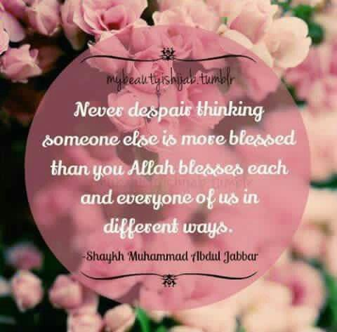 Always thank Allah...