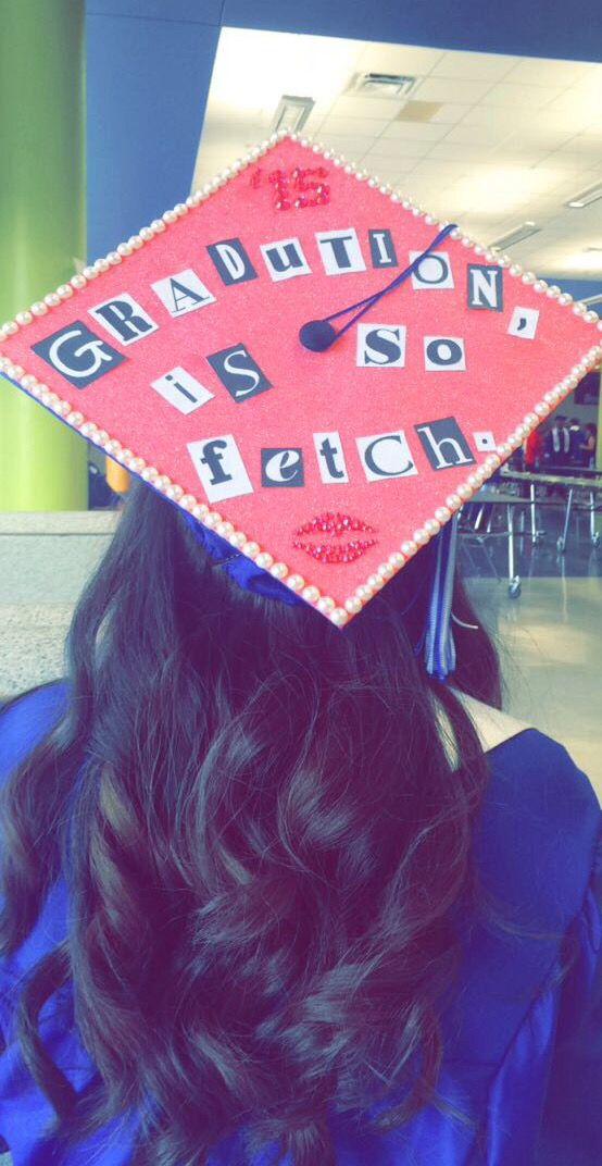 Mean girls graduation cap: