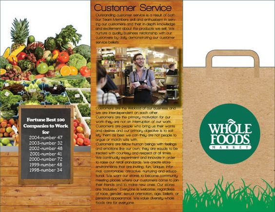 Whole foods market trifold on Behance Brochures Pinterest - food brochure