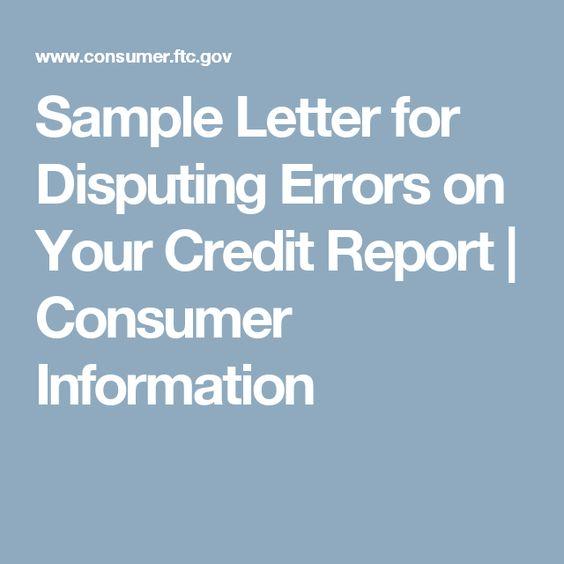 Sample Credit Report Dispute Letter of Explanation credit - sample credit report