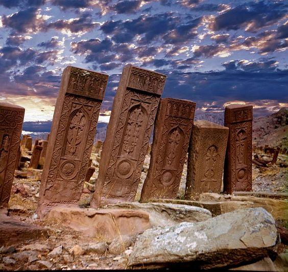 Cuğa Necropolis, Naxçıvan region. AZERBAİJAN: