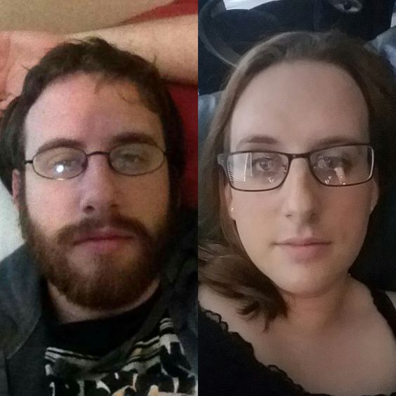 MTF 13 months hrt before and after.