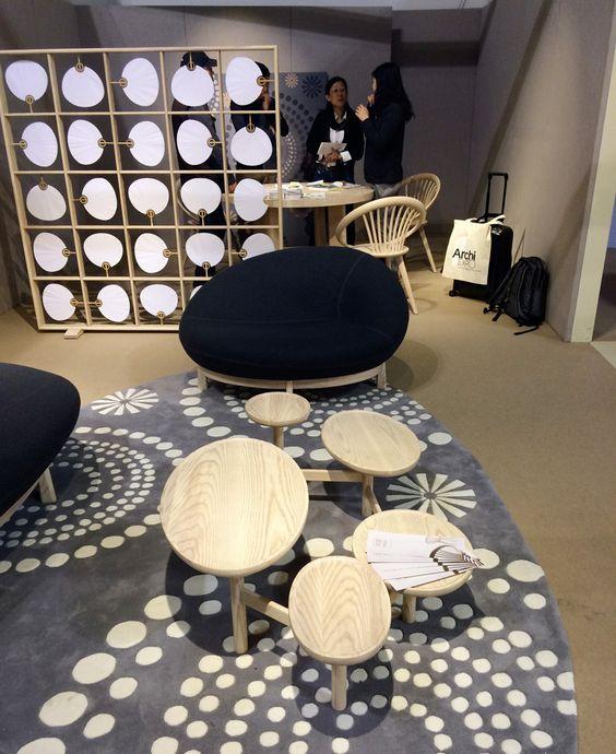Raumteiler, Sessel, Beistelltisch, room dividers, chair, side table