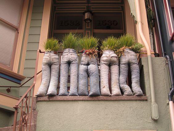 Jean planters by Eli the Bearded, via Flickr
