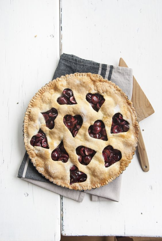 Tarta de cerezas para el libro FRUTALES y cocina