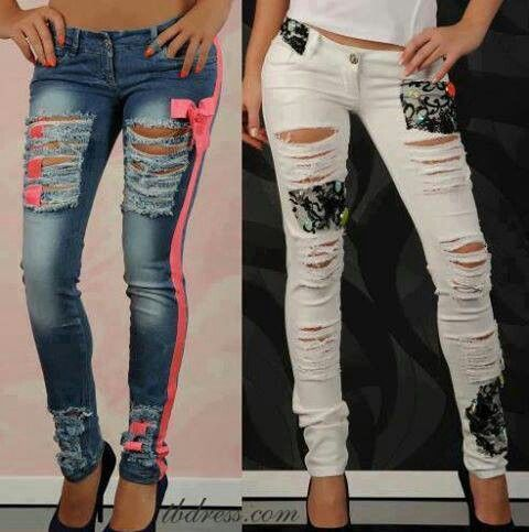 Sexy cut up skinny jeans | Fashion Forward | Pinterest | Sexy ...