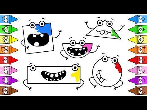 Jak Rysowac Ksztalty Kolorowanki Dla Malych Dzieci Animacja Dla