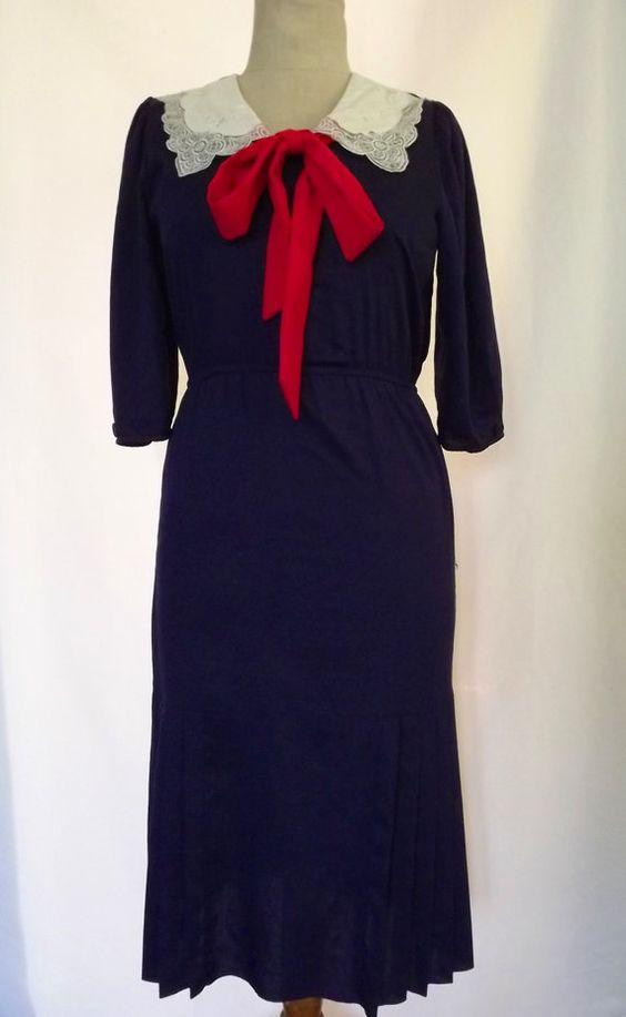 Vintage sailor style dress from Petit Joy Vintage