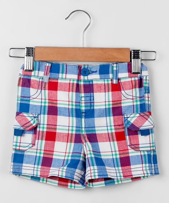 Loving this Beebay Blue & Red Plaid Shorts - Infant, Toddler & Boys on #zulily! #zulilyfinds