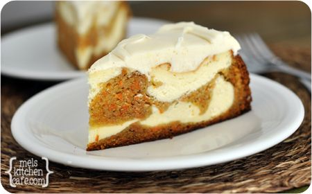 Carrot Cake Cheesecake...alternate dollops of cheesecake batter and carrot cake batter & top with cream cheese frosting...yumm!!