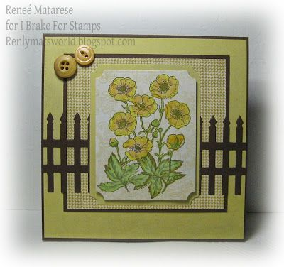 Buttercups sympathy card. Image from I Brake For Stamps.  There's a coupon on the blog!