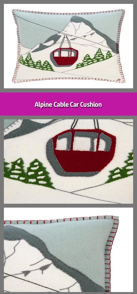 2020 Christmas Cable Car Alpine Cable Car Cushion in 2020   Christmas cushions, Car cushion