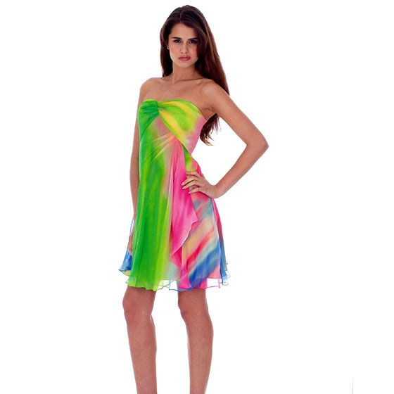 Neon party dress! @Maddie h... we could like tie dye shirts ...