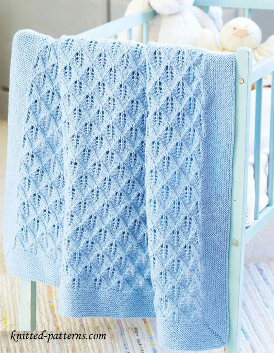 Free Knitting Patterns For Newborn Baby Blankets : Cot blanket knitting pattern free My Baby Blankets ...