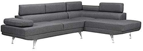 Best Seller Brassex Aria Sectional Adj Arms Back Grey Online Living Room Furniture Living Room Grey Furniture