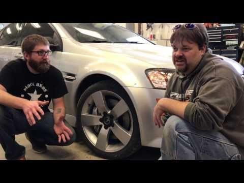 Cts V Brake Upgrade For The G8 Blockheads Garage Ep 17 Youtube Upgrade Brake Garage