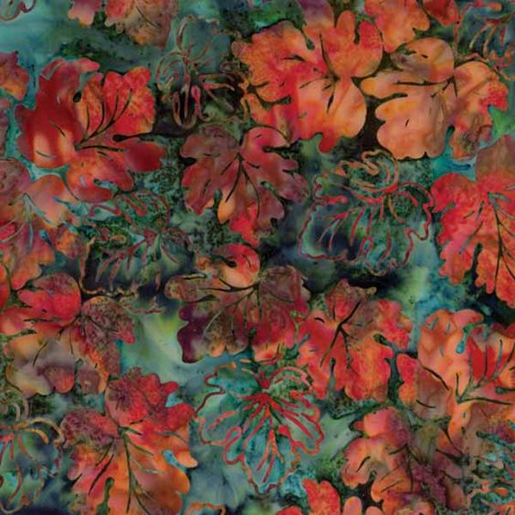 Hoffman batik Oak leaves