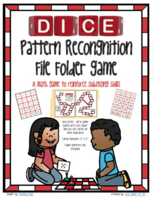 Subitizing Dice Pattern Recognition File Folder Math Game From