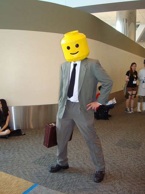 Lego man cosplay