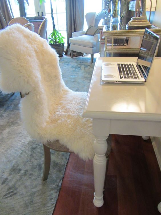 Amazing Ikea Sheepskin Throw Rug For Over The Rocking Chair Nurseries