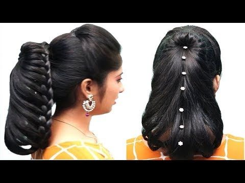 Beautiful Hairstyle For Wedding Party Function Trending Hairstyle Easy Braided Hairstyles Youtube Hair Styles Braided Hairstyles Easy Easy Hairstyles