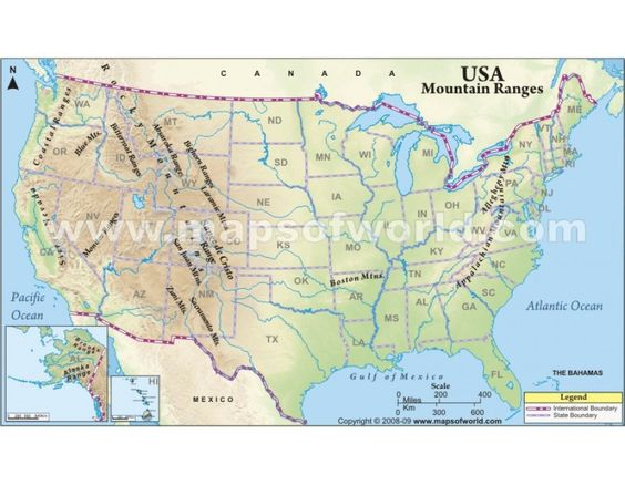 Usa Map With Mountain Ranges Map Usa Map Images - Mountain ranges us map