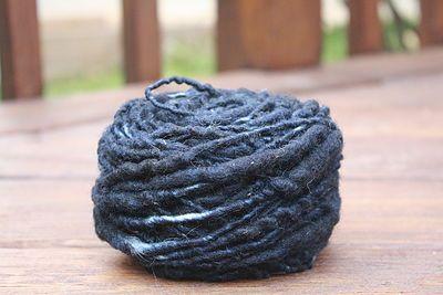 Midnight Blue Overspun Handspun Wool Yarn $26 Kimberly Handspun Handwoven SHOP www.nywhitestonefarm.com #handmade #handspun  #handdyed #yarn #wool #knit #crochet #farm #gift #dyi #blue #overspun