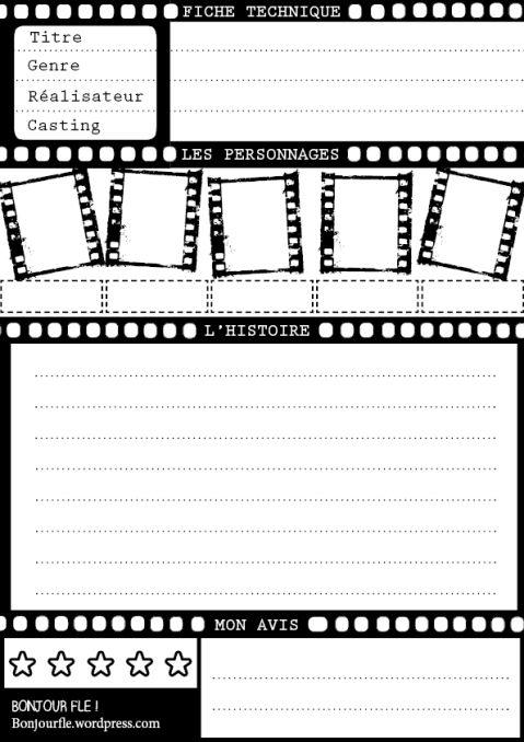 bonjourfle  Template u2013 Présenter un film thème cinéma - film review template