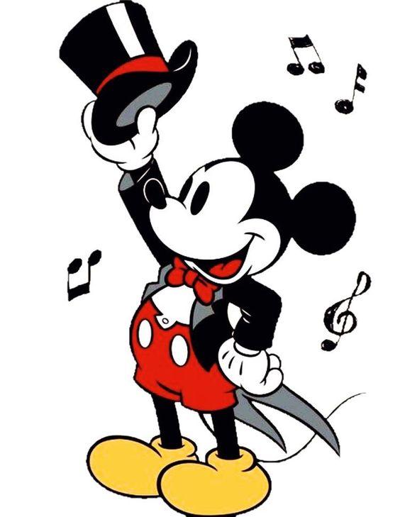 音符とミッキーマウス
